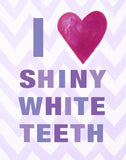 Kids Bathroom Art Prints by Cici Art Factory - I heart SHINY WHITE TEETH