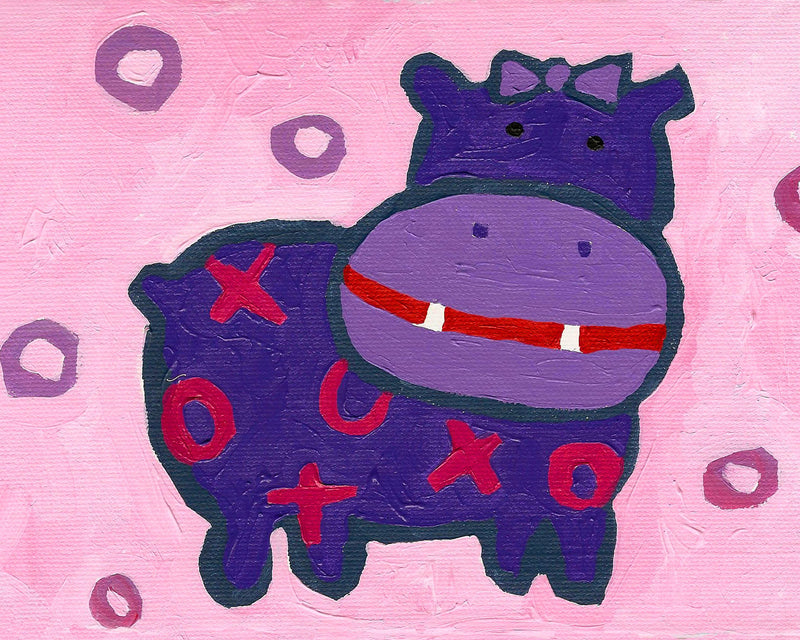 Hippo Art Card by Cici Art Factory