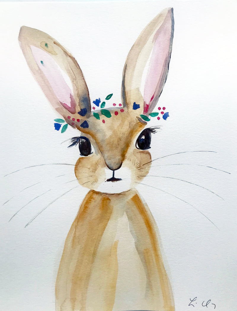 Original Watercolour - Bunny  #7