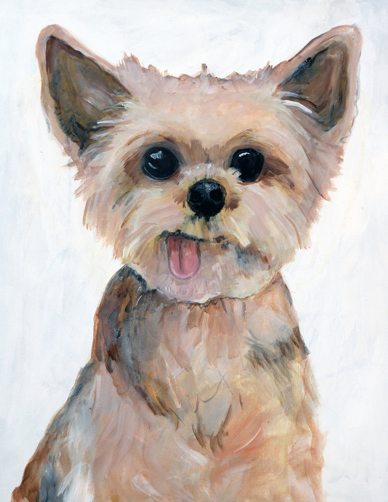 Vancouver Pet Portrait.  Custom dog painting by Vancouver artist Liz Clay of Cici Art Factory.  Dog Portrait Painting