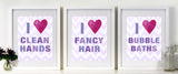 Kids Bathroom Wall Decor by Cici Art Factory - GIRLS bathroom art