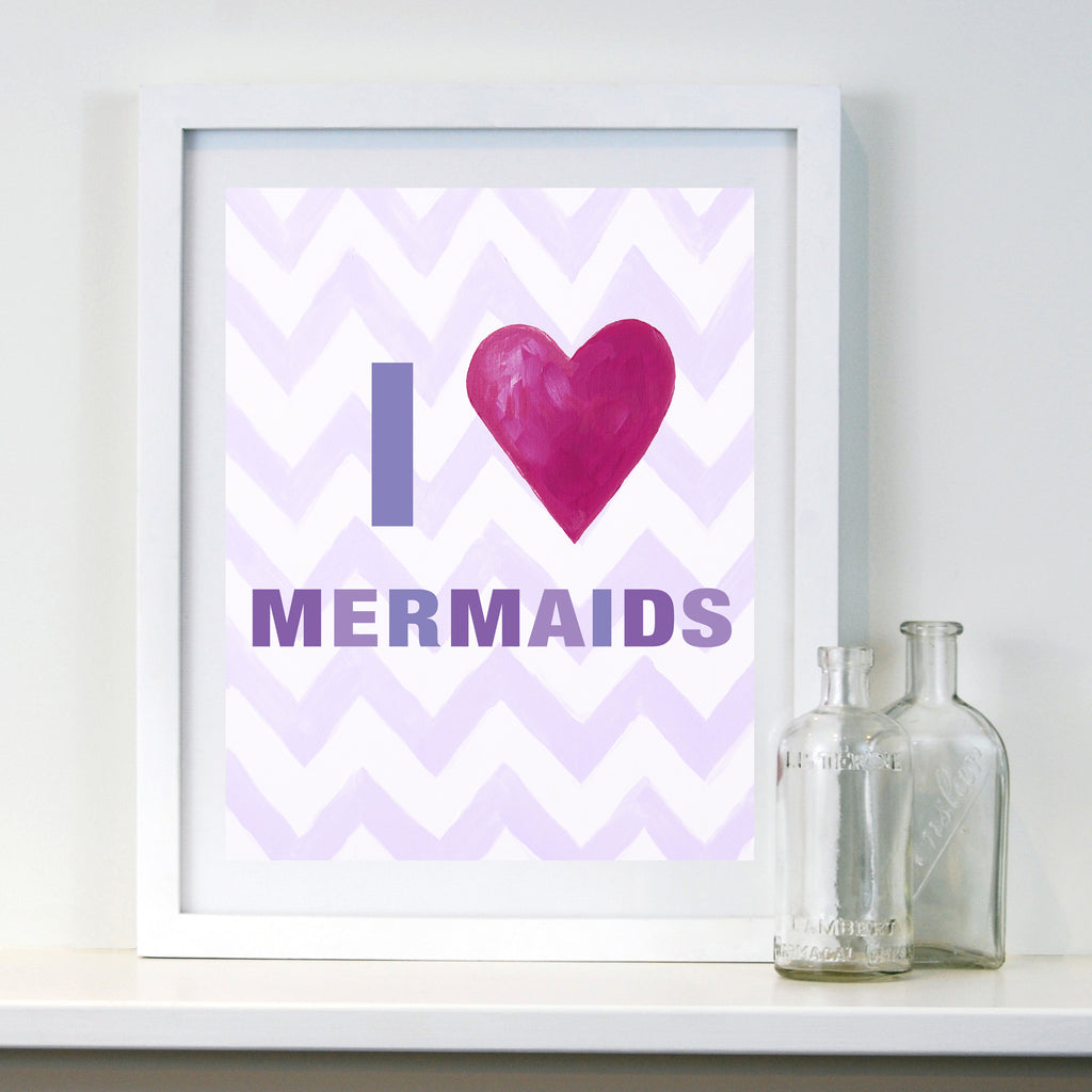 Kids Mermaid Decor by Cici Art Factory - Mermaid Art for Baby Nursery