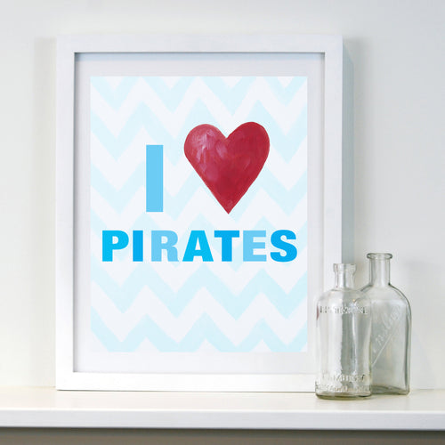 Nursery Pirate Wall Decor by Cici Art Factory - Kids Pirate Art