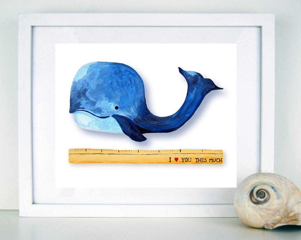 I heart you this much - Ocean Themed kids Decor