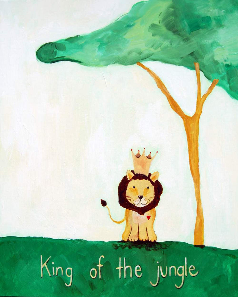 King of the Jungle - Baby Nursery Quote Art - Bunny Wall Decor for Baby