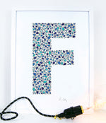 alphabet art for nursery - letter art for kids - letter F