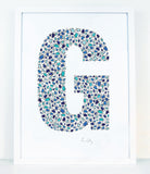 alphabet art for nursery - letter art for kids - letter G