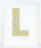 alphabet art for nursery - letter art for kids - letter L