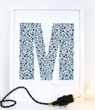 alphabet art for nursery - letter art for kids - letter M
