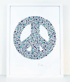 alphabet art for nursery - letter art for kids - letter peace