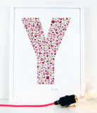 alphabet art for nursery - letter art for kids - letter Y