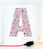 alphabet art for nursery - letter art for kids - letter A