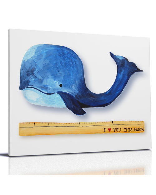 I heart you this much - Whale Themed art for baby nursery