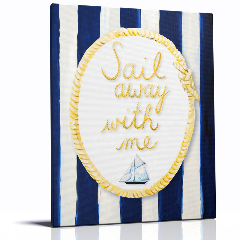 SAIL AWAY WITH ME - Ocean Themed wall decor for kids rooms