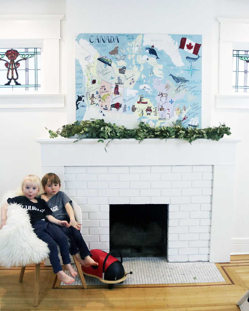 Canada map Wall Art by Vancouver artist Liz Clay