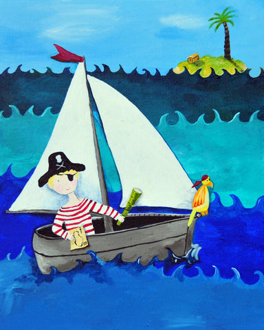 Pirate art for boys by Cici Art Factory