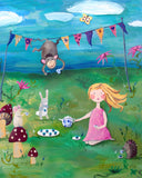 Tea Party art card by Cici Art Factory