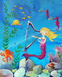 Mermaid art card by Cici Art Factory