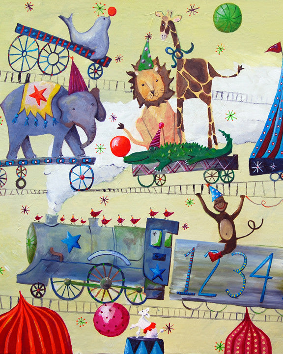Circus Train art card by Cici Art Factory