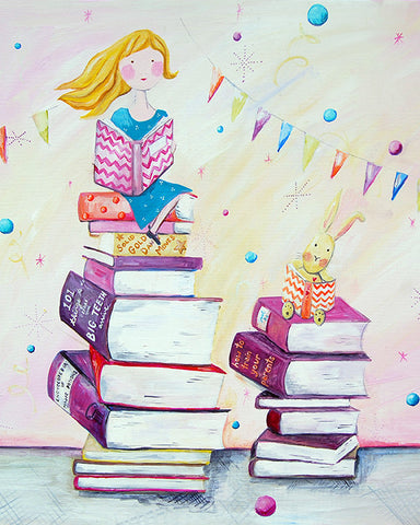 Book Lover art Card by Cici Art Factory