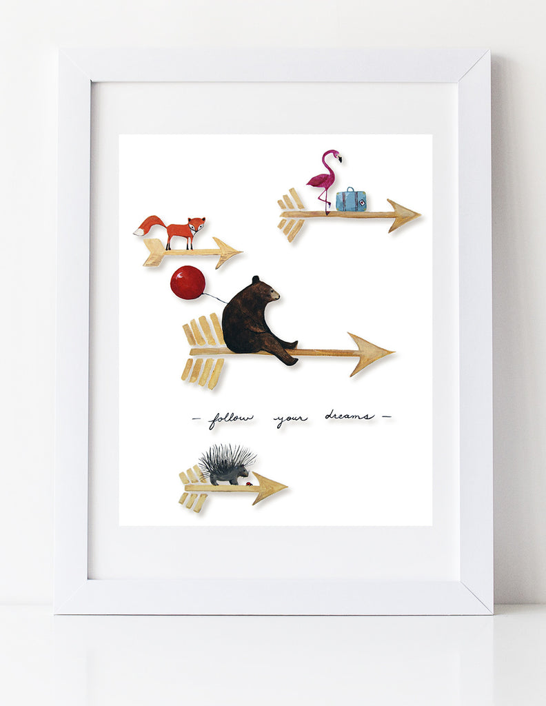 Follow your Dreams art print by Cici Art Factory