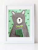 You are My Greatest Adventure - bear art print by Cici Art Factory