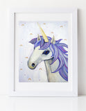 Unicorn nursery decor by Cici Art Factory