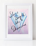 Diamond nursery art print by Cici Art Factory