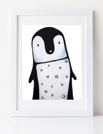 Black and white nursery art by Cici Art Factory - xoxo Penguin art print