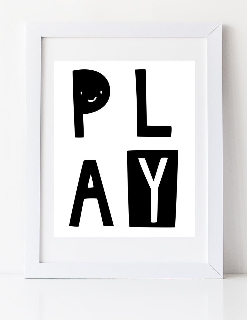 PLAY art print by Cici Art Factory