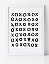XOXO Black and white nursery art print by Cici Art Factory