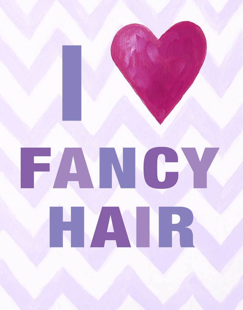Kids Bathroom Decor by Cici Art Factory - I heart FANCY HAIR