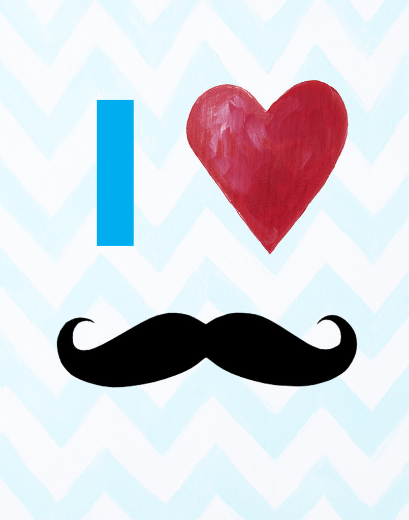 Moustache Art Prints by Cici Art Factory - Mustache art prints