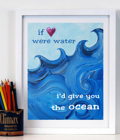 I'd give you the ocean - Baby Nursery Art