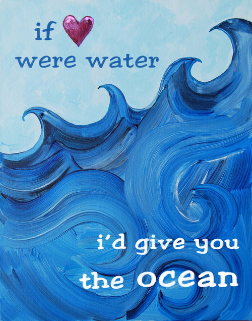 I'd give you the ocean  - Art for Baby Nursery