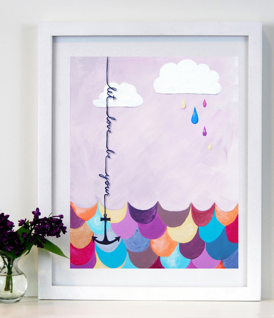 Let Love Be Your Anchor - Art for Baby Nursery