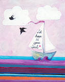 Let Hope be your Sail - Art for Baby Nursery