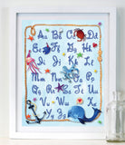 Alphabet Rope  - Baby Nursery Art