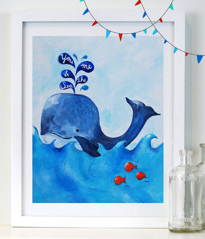 You, Me & the Sea - Baby Nursery Art
