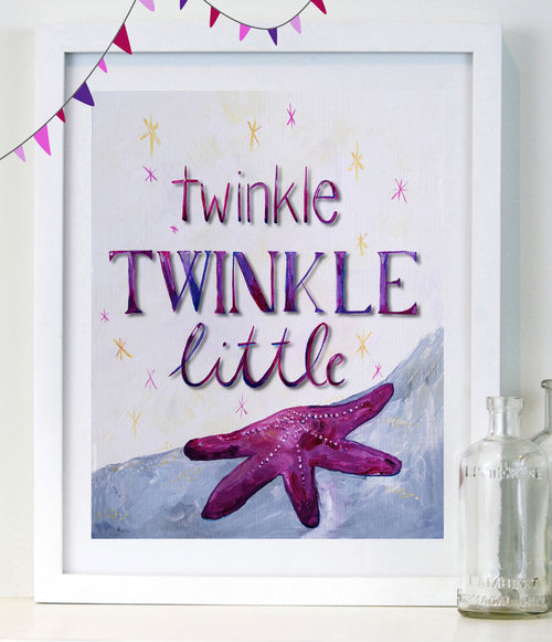 Twinkle Twinkle Little Star - Lilac - Baby Nursery Art