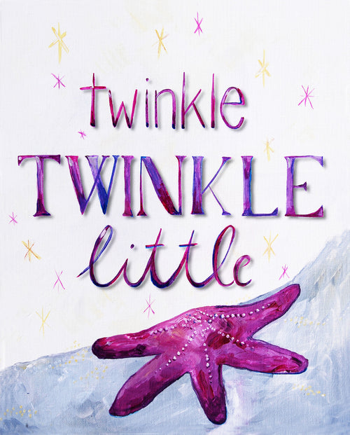 Twinkle Twinkle Little Star - Lilac - Art for Baby Nursery