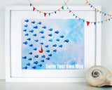 Swim Your Own Way - Blue - Art for Baby Nursery