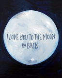 I love you to the moon & back nursery decor