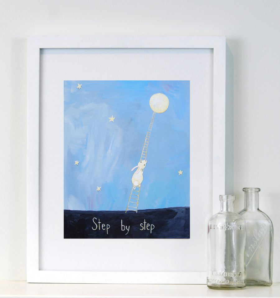Step by Step  - Baby Nursery Quote Art