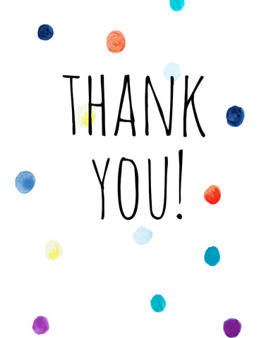 Thank You Mini Card - Dots