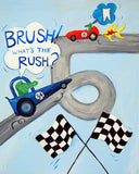Wash to Win - Boys Race Car Bath Decor