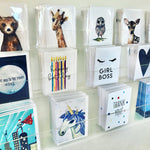 Set of 5 Black & White Mini Cards