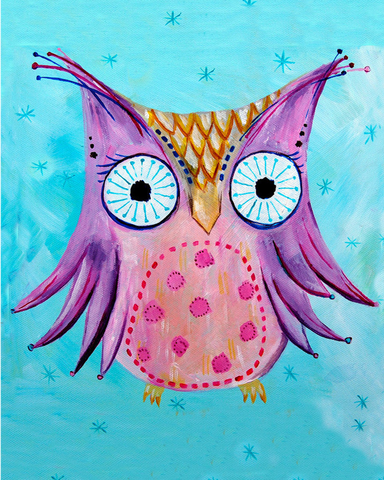 Owl art card by Cici Art Factory