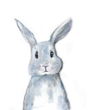 Cute Grey Bunny Nursery Decor Art Print