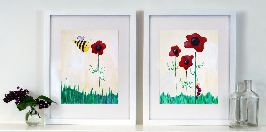 Red Art for Kid's Rooms  - Dream Big Art for Baby Nursery